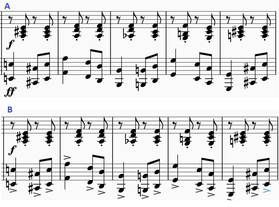Sheet music example