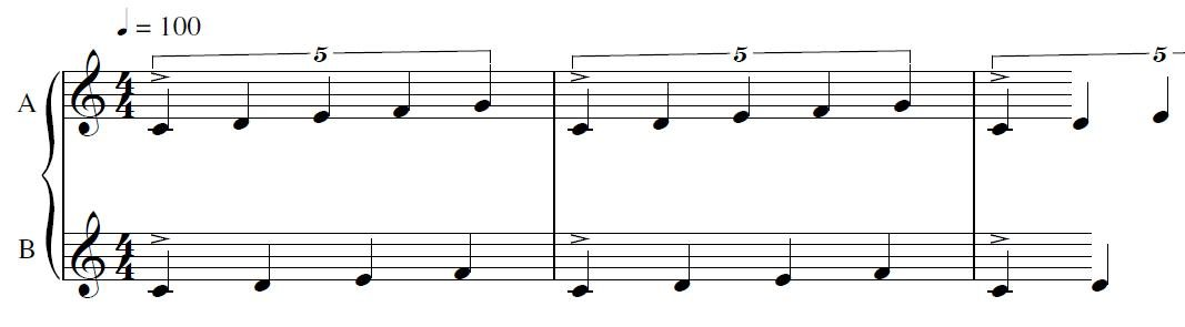 5:4 Polyrhythm (notated in 4/4-time)