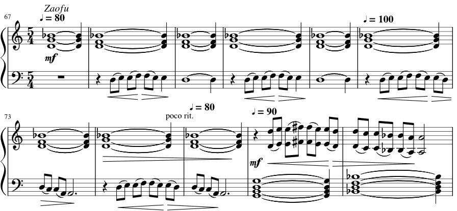 sheet music snippet