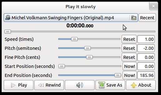 playitslowly running on Ubuntu 12.04